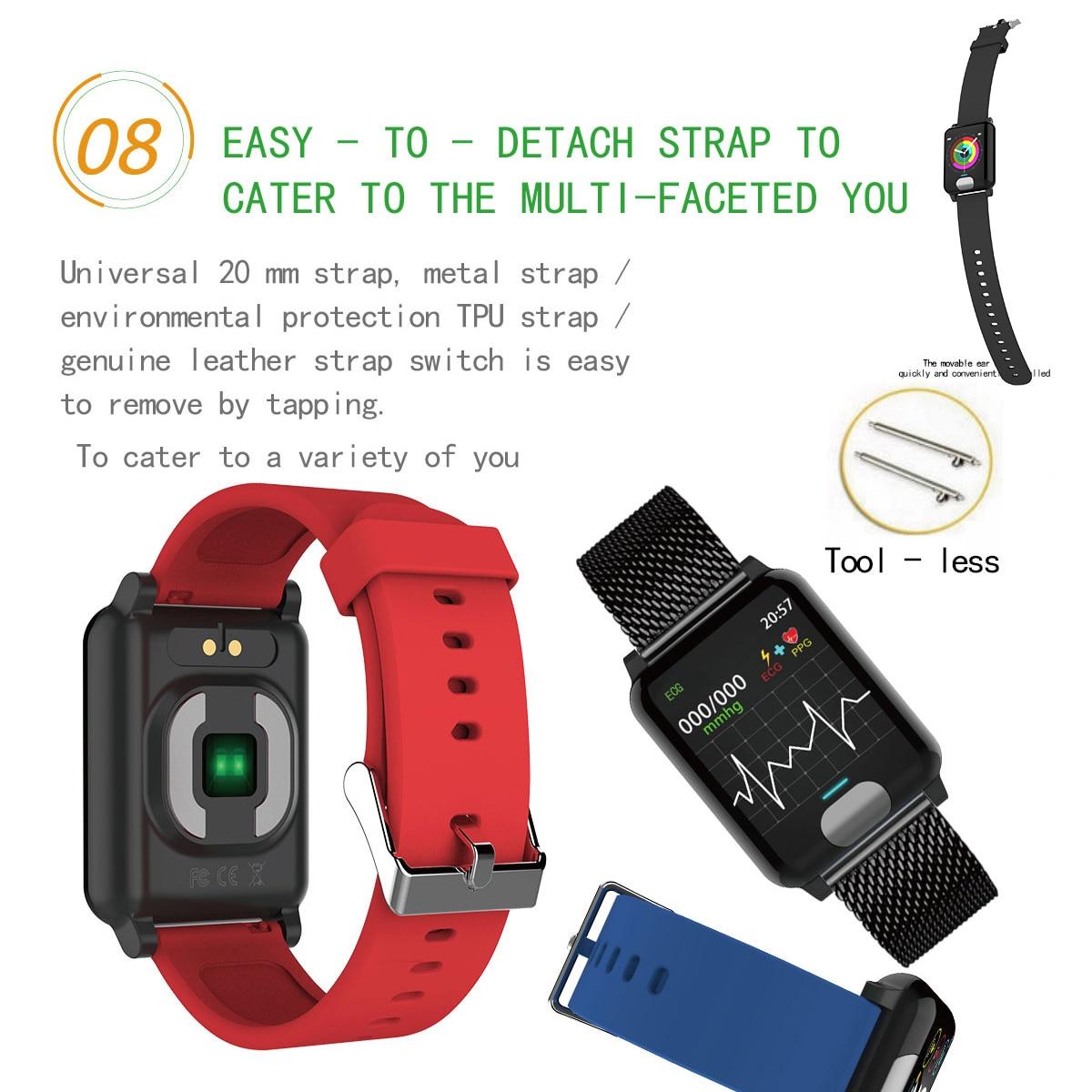 Image 5 - XGODY E04 ECG + PPG умный Браслет монитор сердечного ритма фитнес трекер Смарт браслет кровяное давление браслеты для наручных часов для IOS Android-in Смарт-браслеты from Бытовая электроника