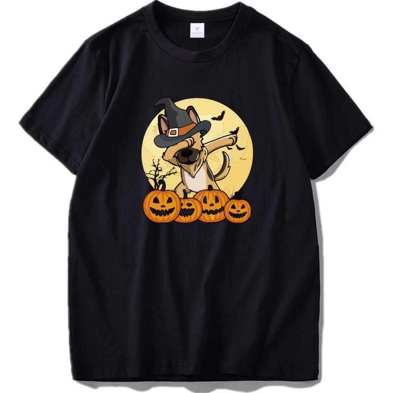 Футболка с немецкой овчаркой, Рождественский забавный мопс, Camiseta, унисекс, 100% хлопок, дизайнерская Подарочная футболка, Homme, европейский размер