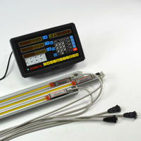 3Axis Digital Readout Console Display Dro Kits With Linear Scale 0 005MM Linear Encoder Measure Tools