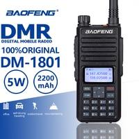 2018 New Baofeng DM 1801 DMR Walkie Talkie Tier I/II Digital Analog Dual Mode Dual Band Two Way Radio Comunicador Hf Transceiver