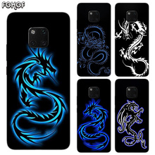 Beautiful Dragon Sketch TPU Silicone Phone Back Cases For Huawei Mate 20X 20 10 9 Pro 8 7 Shell Hull Heart Bumper Cover