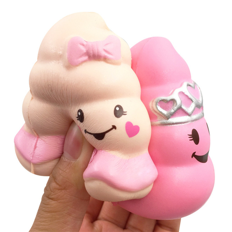 Poo princess pink rare squishy PU soft slow rising Kid Toys Soft squeeze Xmas Gift Stress