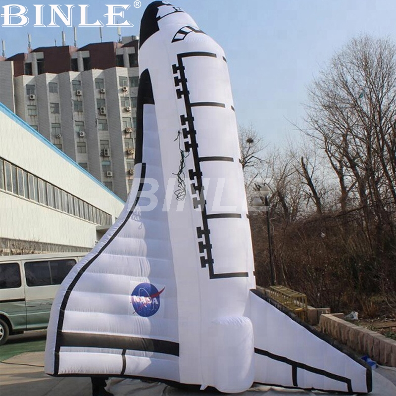 Attractive decorative giant inflatable rocket ship inflatable space shuttle replica model for sale