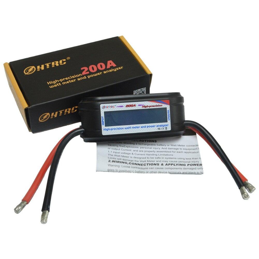 Hohe Präzision Wattmeter Spannung Amp Meter Power Analyzer 8 Gauge Draht HTRC 60 V 200A
