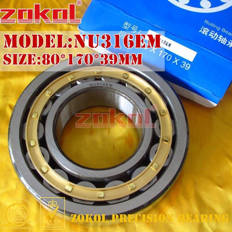 ZOKOL NU316 E M bearing NU316EM 32316EH Cylindrical roller bearing 80*170*39mm гусеничный снегоуборщик huter sgc 8100c