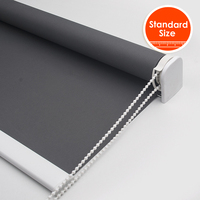 High Quality 38mm Thicken Tube Blackout Roller blinds for bedroom strong With Drill Full Shade Window Blind Standard Size