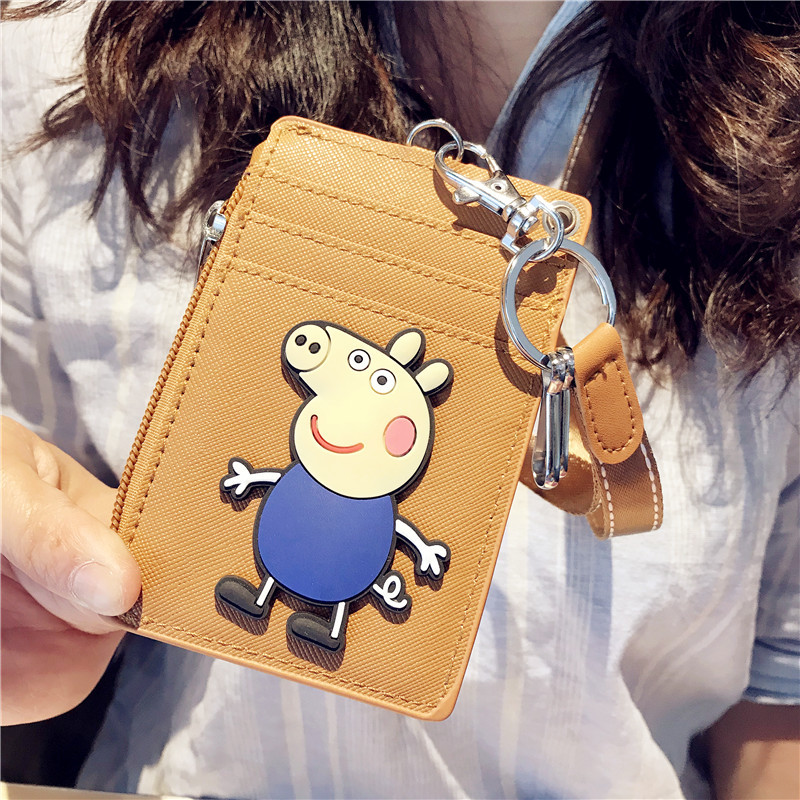 HNXZXB 2018 New Hot Cartoon Animal PU Transparent Pickup Wallet ID Cardholder Bank Card Public Transport Cardholder ...