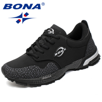 BONA New Classics Style Men Running Shoes Lace Up Men Athletic Shoes Outdoor Jogging Sneakers Comfortable Fast Free Shipping