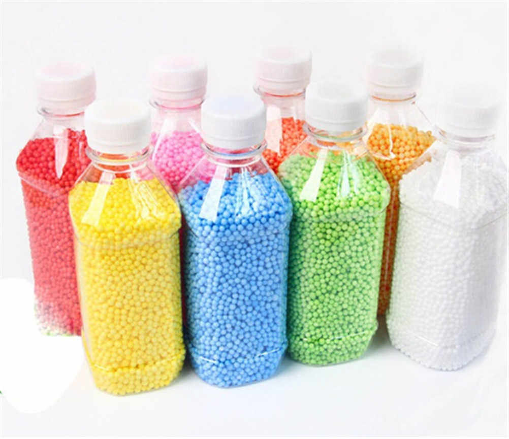 edd21a94ed 1 Pack DIY Snow Mud Particles Accessories Slime Balls Small Tiny Foam Beads  For Floam Filler 2-4mm For DIY Party Supplies