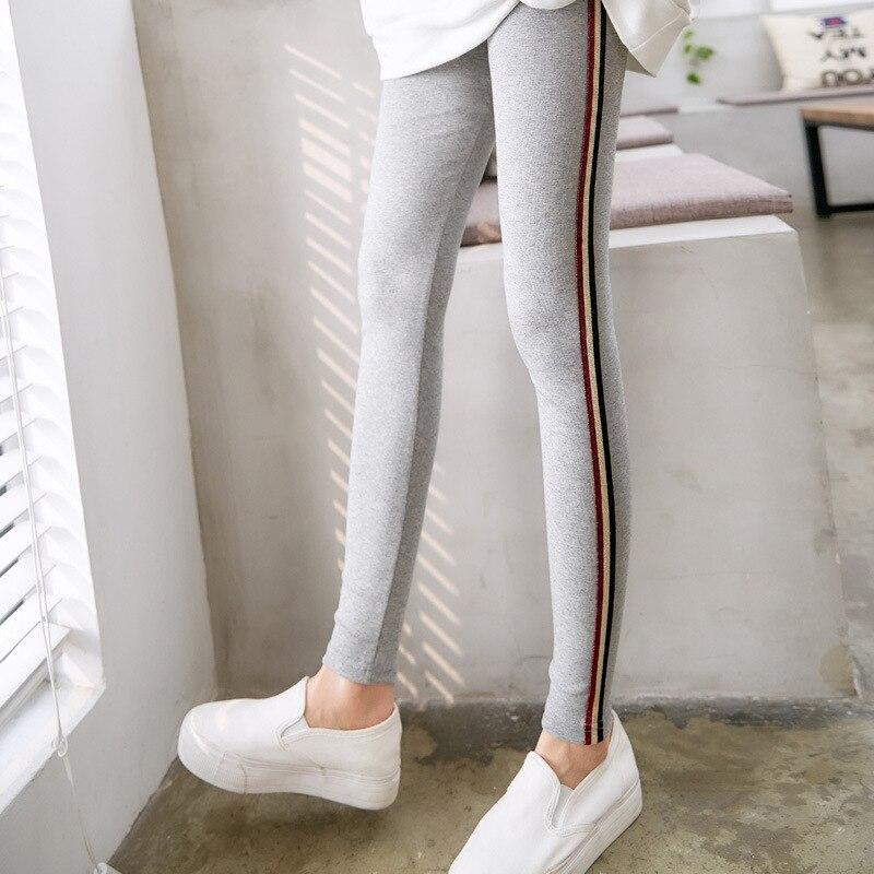 2018 verano nuevo estilo DN alta cintura Pure color leggings elasticidad del tobillo mujeres leggings culo