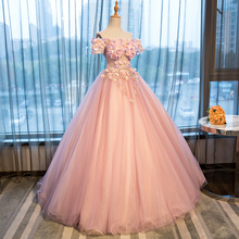 7ab20c930c Buy pink queen ball dresses and get free shipping on AliExpress.com
