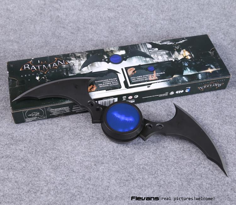 NECA DC Comics Batman Arkham Knight Batarang Replica Action Figure with Light Collectible Model Toy HRFG447 neca dc comics batman arkham origins super hero 1 4 scale action figure