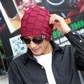 A star plus velvet knitted hat hats for men and women lovers loose Korean winter hat day tide