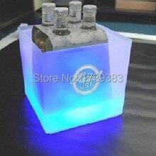 Флэш-свет ковша событие квадратные бары пиво ведро кулер клуб лед слой