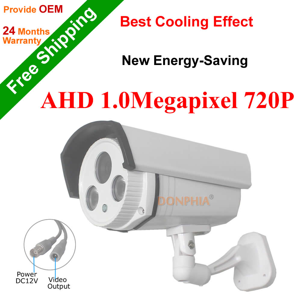 ФОТО 720P AHD CCTV Camera 1.0MP High Definition waterproof outdoor IRCUT night vision color image security system Surveillance Camera