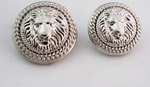 Home & Garden 10pieces High Grade Retro Metal Bronze Lion Head Jacket Buttons Shirt Sweater Button Decorations Accessories 23mm Free Shipping