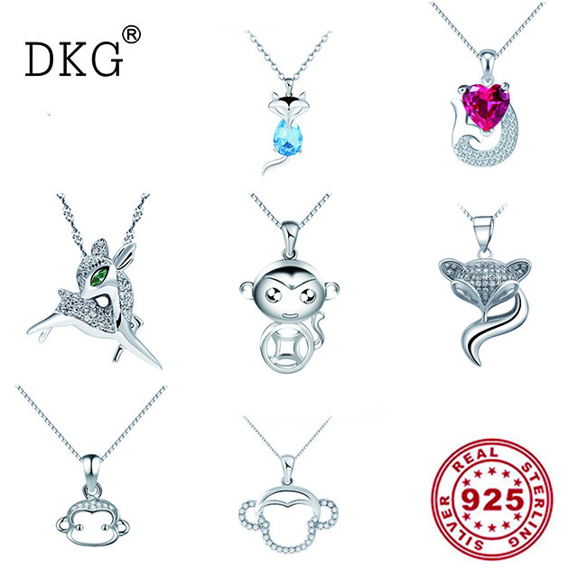 Jewelry & Accessories 925 Silver Animal Series Monkey Fish Fox Deer Charm Pendant For Women Bracelet Diy Jewelry Beads & Jewelry Making