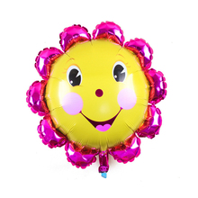 New Smile Face Cartoon Colorful Rainbow Sunflower Aluminum Foil Balloon Valentine Day Wedding Party Decorative Supplies