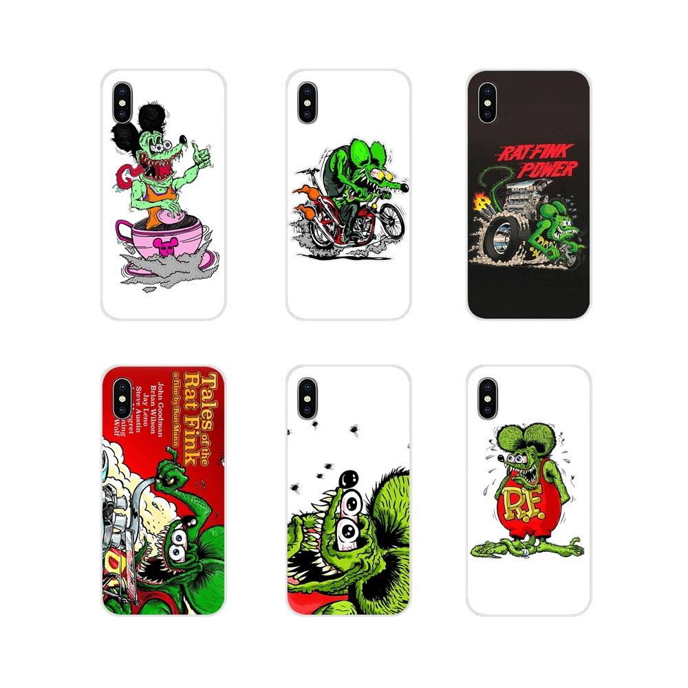 Accessories Phone Shell Covers For Apple iPhone X XR XS MAX 4 4S 5 5S 5C SE 6 6S 7 8 Plus ipod touch 5 6 Tales of the Rat Fink