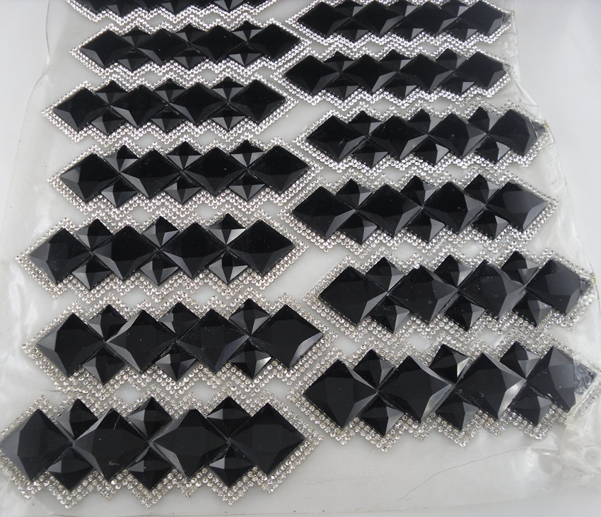 Diy Hotfix iron clear black colorful champagne glass crystal round square  faceted rhinestones clothing applique decoration 1pc-in Rhinestones from  Home ... 548ecd21275e