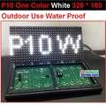 P10 чистый белый открытый из светодиодов панель, 320 * 160 32 * 16 hub12 монохромный, Доказательство воды, P10 белый из светодиодов модуль, P10 один белый панель