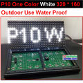 p10  pure white outdoor led panel,320*160 32*16  hub12  monochrome,water proof, p10 white led module,p10 single white panel,