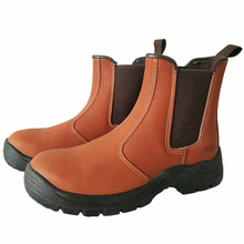 England style mens casual breathable steel toe caps working safety shoes anti-puncture cow leather security ankle boots protect