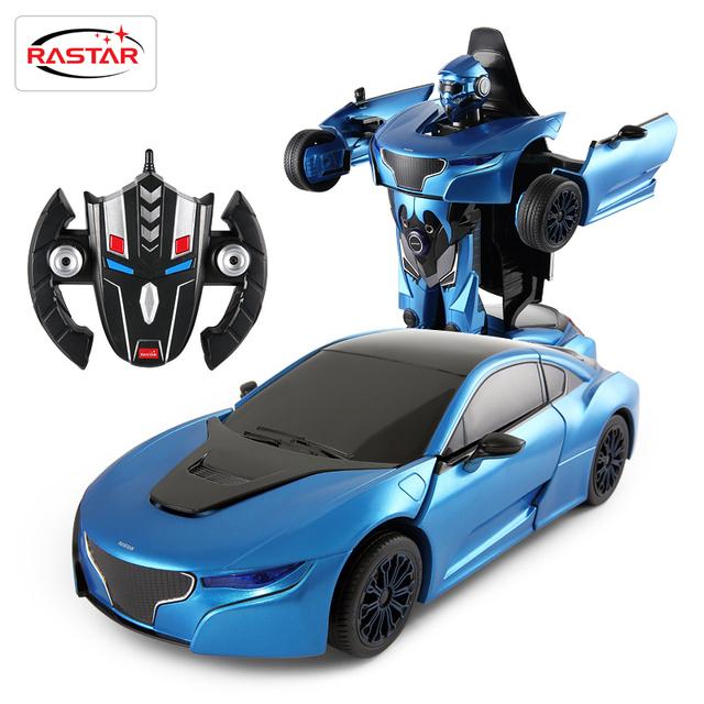 Rastar 2.4g 1:14 rc cars deformación robocops máquina toys for boys toys radio control remoto controlado sin caja original 74700