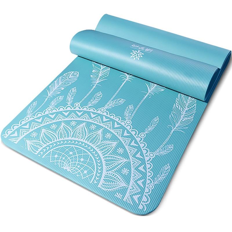 Tapis de yoga en NBR bleu ciel attrape-rêves