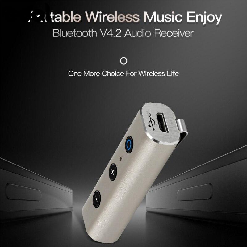 Mode Aux Bluetooth Musik Auto Kit 4,2 Bluetooth Stereo Musik Empfänger Hohe Qualität Zifferblatt Antwort 3,5mm Stecker Für Smart Phon In Vielen Stilen Unterhaltungselektronik