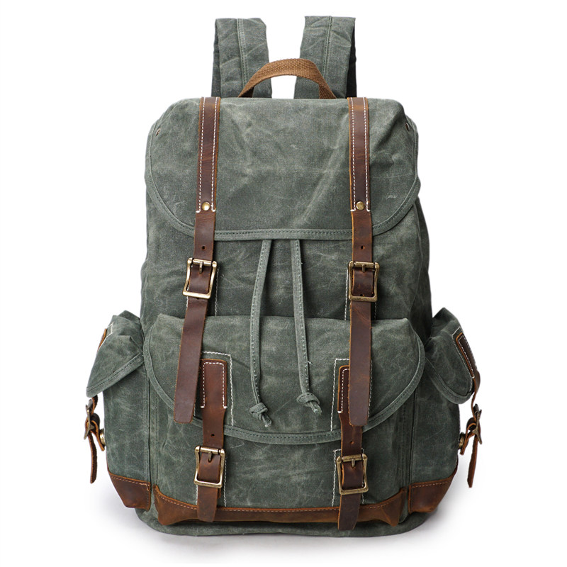 Nesitu High Quality Waterproof Big Size Vintage Canvas Men Backpacks Women Backpack 14'' Laptop Men Travel Bags #M5256 2017 hot sale men 50l military army bag men backpack high quality waterproof nylon laptop backpacks camouflage bags freeshipping
