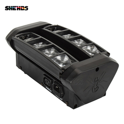 SHEHDS Schnelle Verschiffen RGBW Mini LED Spinne Strahl Licht LED 8x6W Bar Strahl Moving Head Strahl LED spinne Licht RGBW Für Disco DJ