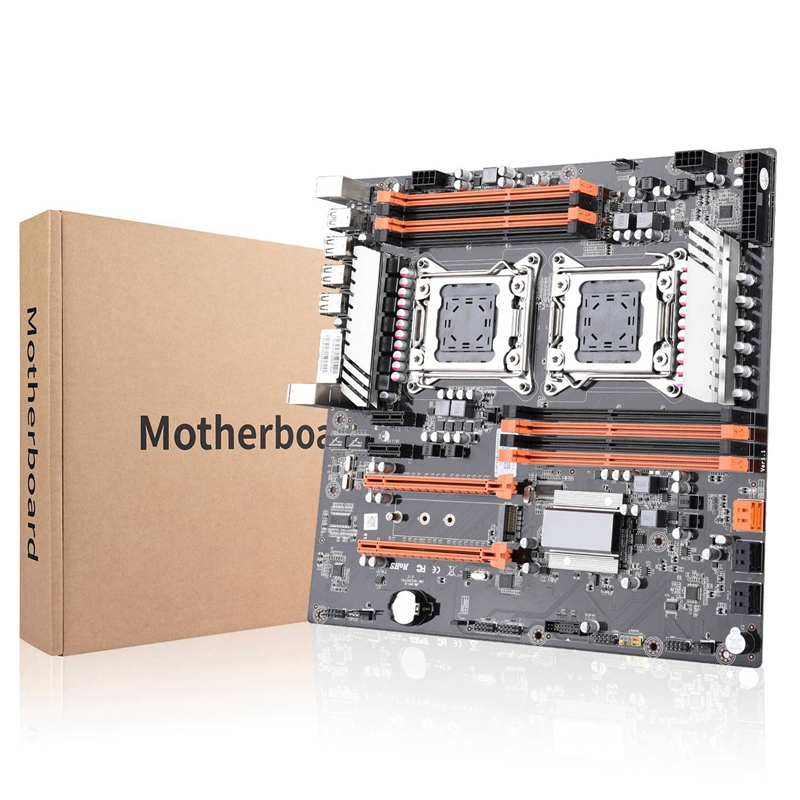 X79 Dual Cpu Lga2011 Motherboard Support For Dual Intel E5 2689 2670 Ddr3 1333/1600Mhz 256Gb M.2 Nvme Sata3 Usb3.0 E-At