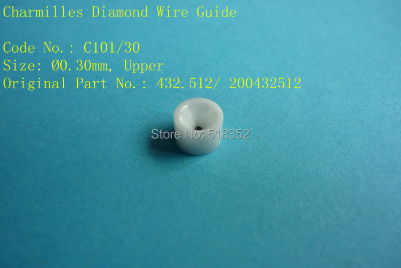 Charmilles C101 D=0.30mm  432.512/ 200432512  Diamond Wire Guide with Ceramic Housing for WEDM-LS Machine Parts a290 8110 x715 16 17 fanuc f113 diamond wire guide d 0 205 255 305mm for dwc a b c ia ib ic awt wedm ls machine spare parts