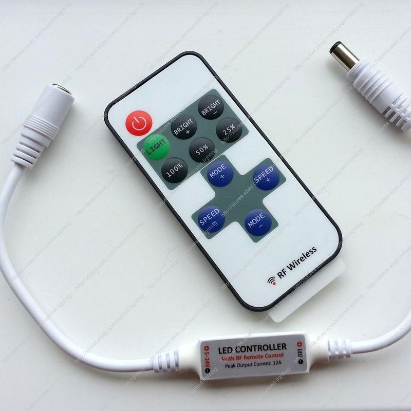 dimmer led dc5 24v 12a mini controlador rf 01