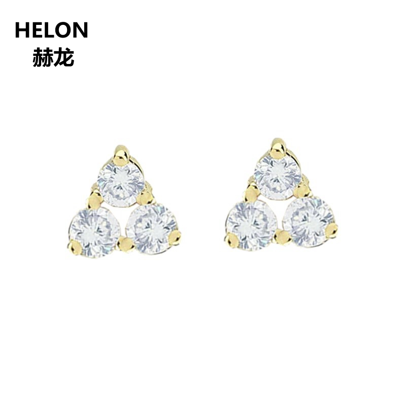 100% SI/H Full Cut Natural Diamonds Earrings Solid 14k Yellow Gold Women Stud Earrings Engagement Wedding Valentine Jewelry Gift цена 2017