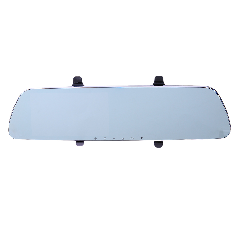 5.0'' Car Camera DVR Dual Lens Rearview Mirror Video Recorder 1080P 170 Degree Cycle Recording Night Vision Car Dash Cam t6 1080p hd blue rearview mirror car video recorder dvr dash camcorder double lens dual camera night dashcam