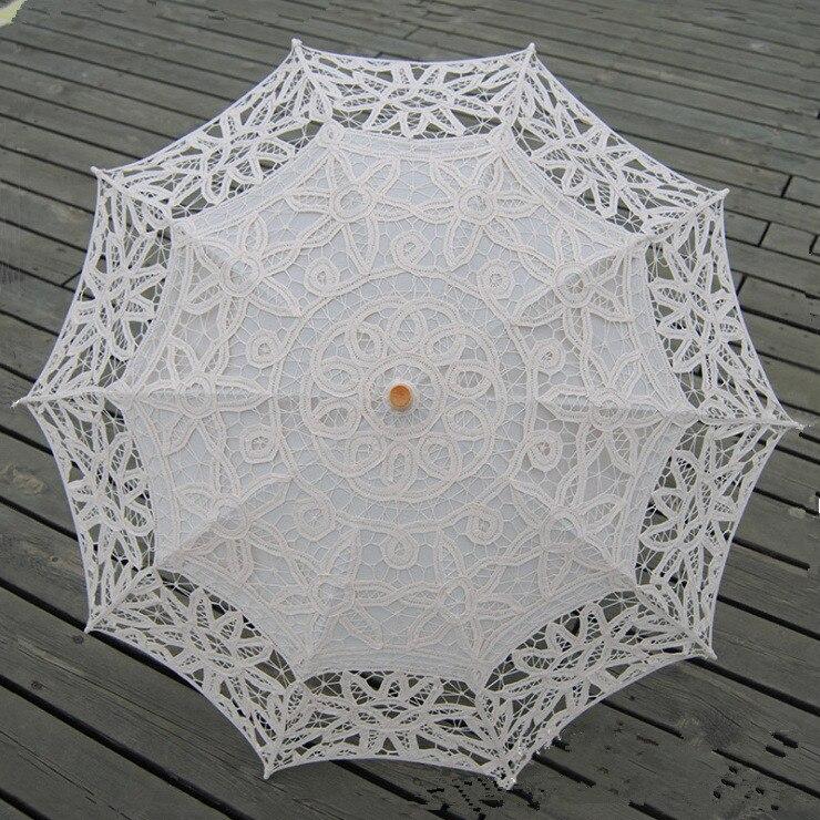 Image 4 - Lace Sun Umbrella Parasol Embroidery Bride Umbrella White Ivory Wedding Umbrella Ombrelle Dentelle Parapluie Mariage Decorativeparapluie mariageombrelle dentellebride umbrella -