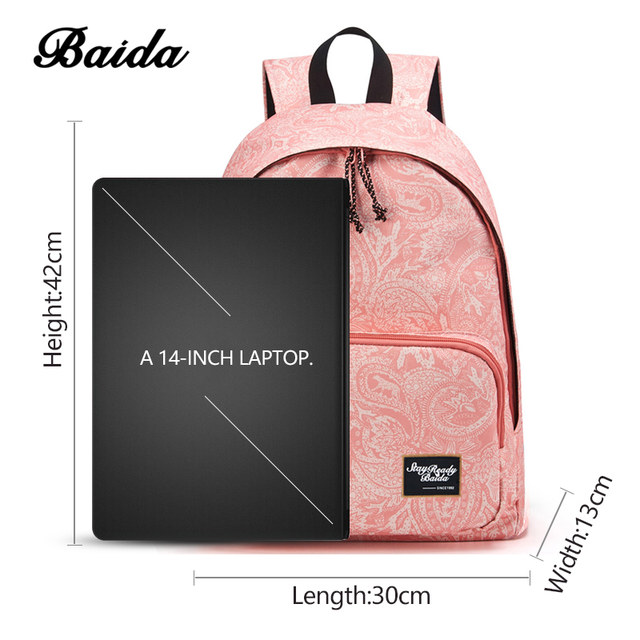 9b97df73d Moda de Impressão Sacos Mochila Escolar para Adolescentes Meninas ...