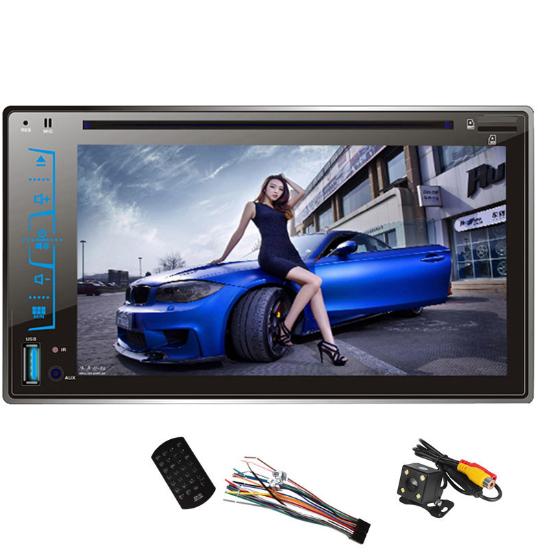 FY6205C 2 Din Car DVD Player 6.2 Capacitive Touch screen Handsfree Bluetooth Car Stereo CD/MP3/FM/AM/USB/SD MP4 MP5 Player eincar in dash single din one din car stereo dvd cd player lcd screen mp3 fm usb sd card receiver with wireless remote control