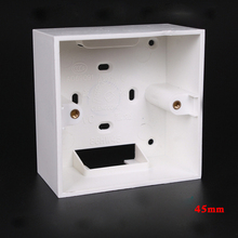 5pcs Universal Type 86 Switch Box 45mm Wall Mounted Bottom Box PVC Junction Box Flame Retardant