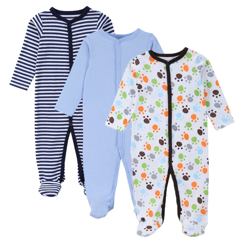 3pcs/set Baby Boys & Girls Rompers For Autumn & Spring & Winter Cotton Long Sleeves Kids Jumpsuit Clothes Set Baby Clothing baby clothes autumn winter baby rompers jumpsuit cotton baby clothing next christmas baby costume long sleeve overalls for boys