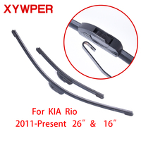 "XYWPER Wiper Blades for KIA Rio 3 2011 2012 2013 2014 2015 2016 26""&16""Car Accessories Soft Rubber Car Windshield Wiper blades|car windshield wiper blade|windshield wiper blades|wiper blade -"