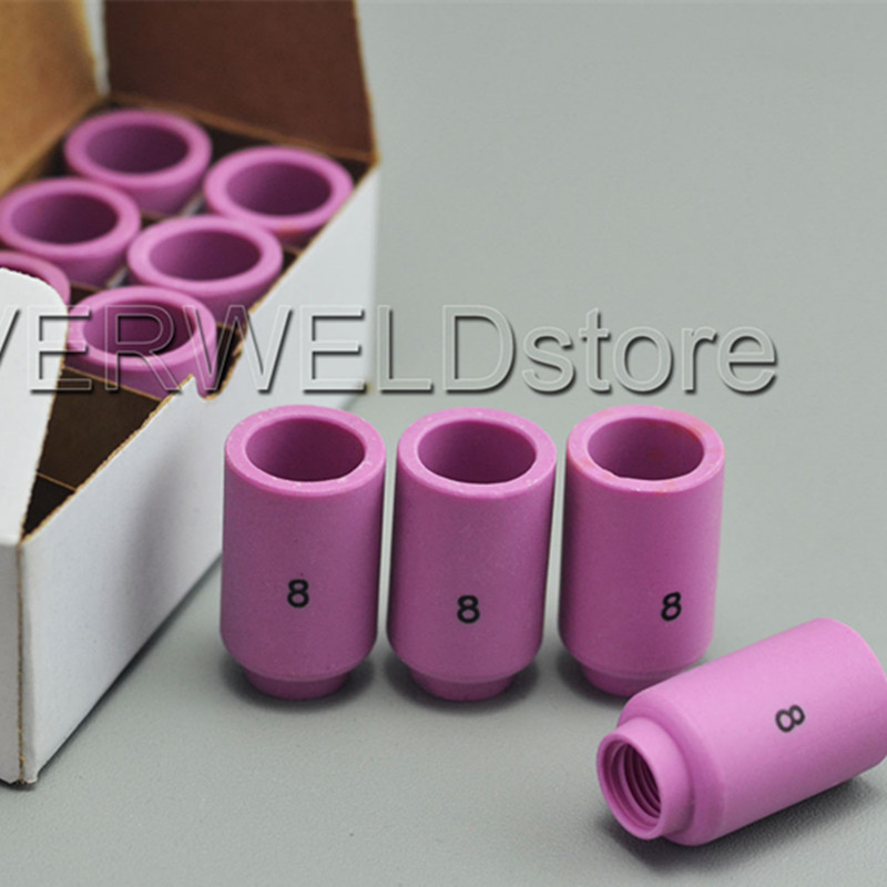 13N11 # 7 TIG Alumina Nozzle Shield Cup for WP9 20 25 TIG Torch 10 Pieces