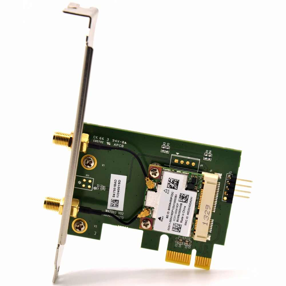 BCM94352HMB 802 11ac 1200Mbps Desktop Wireless PCi-e WiFi Adapter PCi WLAN  Card + Bluetooth 4 0 Hackintosh for Broadcom BCM94352