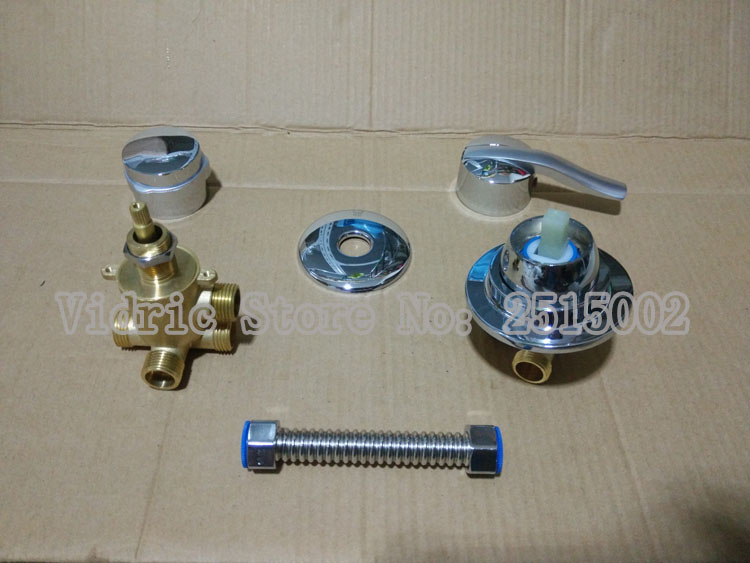 Customized 2/3/4/5 gears shower room mixing valve faucet with connect hose, Intubation/screw thread style split valve water tap blanco alta 512319 tap mixing valve oriental style chrome by blanco