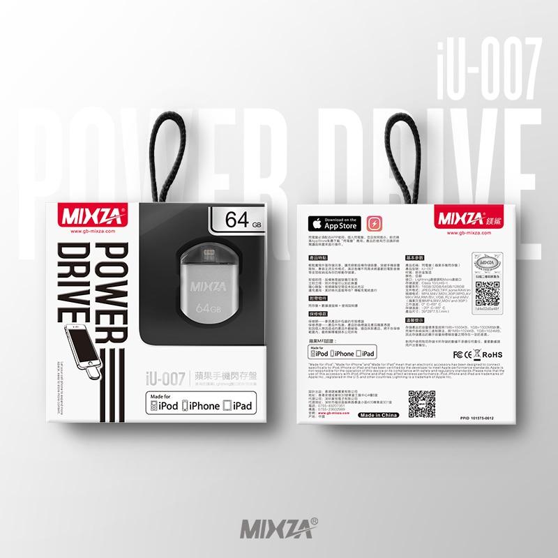 MIXZA IU-007 MFI For iPhone OTG USB Flash Drives 128GB 64GB 32GB 16GB For IPhone/Ipod/ipad Air