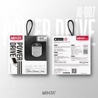 MIXZA IU 007 For IPhone OTG USB Flash Drives 128GB 64GB 32GB 16GB Capacity Expansion For