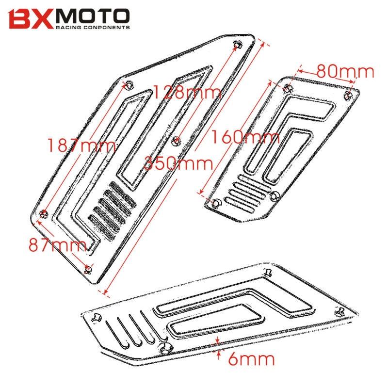 Een set Voor en Achter Motorfiets Voetsteunen Sliver Motor Voetsteun - Motoraccessoires en onderdelen - Foto 6