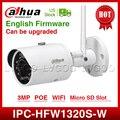 DaHua, wifi, IPC-HFW1320S-W, 3MP, мини, пуля, IP камера, инфракрасная, CCTV камера, IP67, камера безопасности, заменяет IPC-HFW1431S, с логотипом